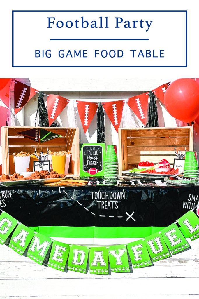 Game Day Food and Snack Table