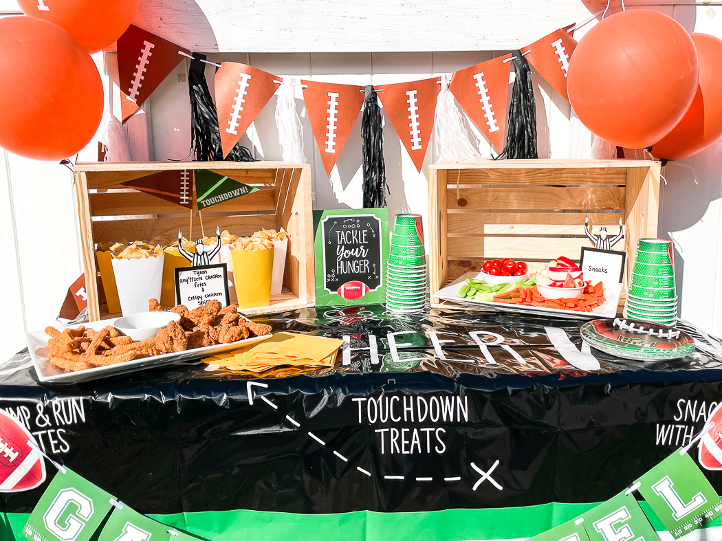 Football Party Food Table