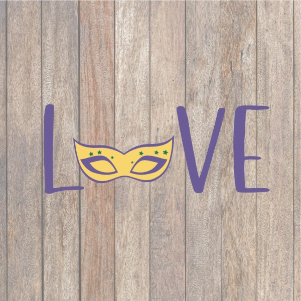 LOVE Mardi Gras SVG