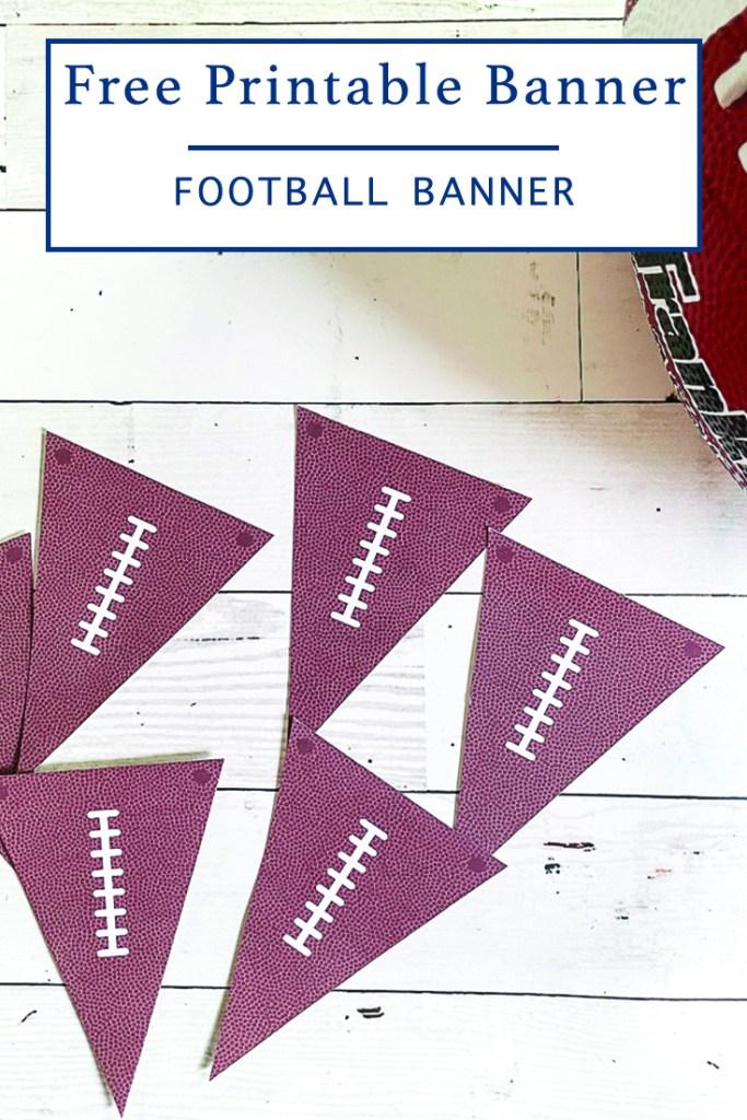 Printable Football Party Decor