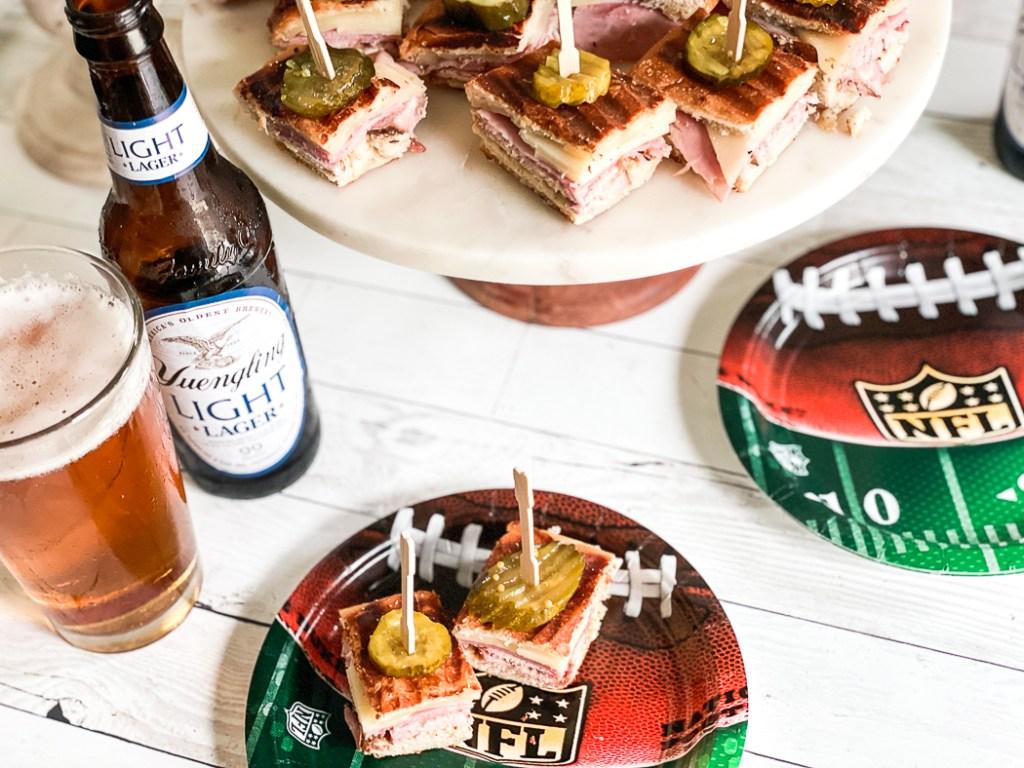 Football Party Food Bites Beer Bottles