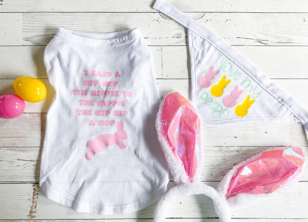 Easter Shirt for dog Easter bunny ears