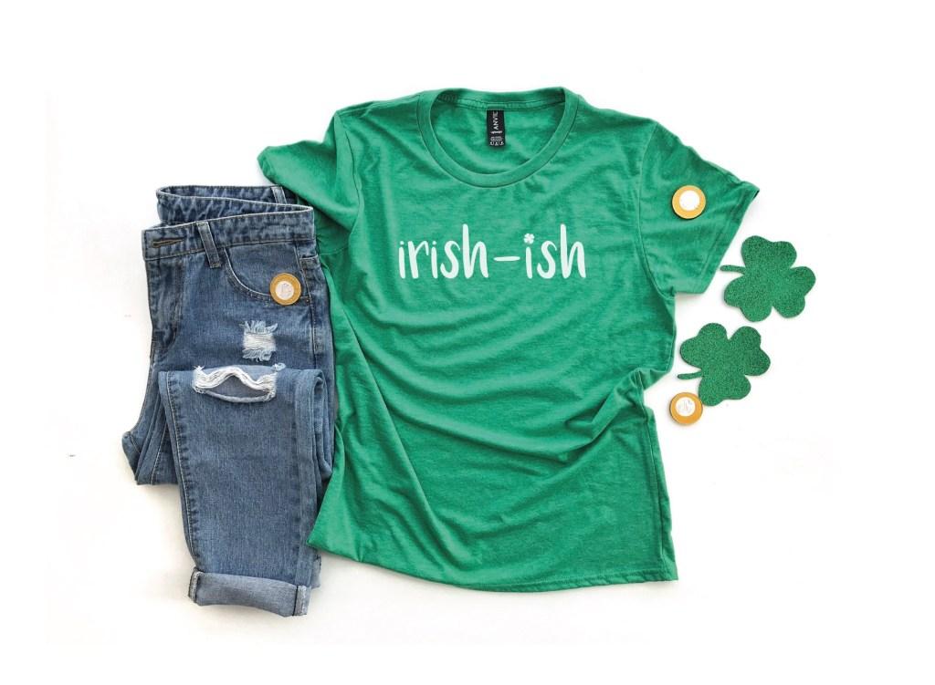 Irish-Ish Shirt Shamrocks Jeans