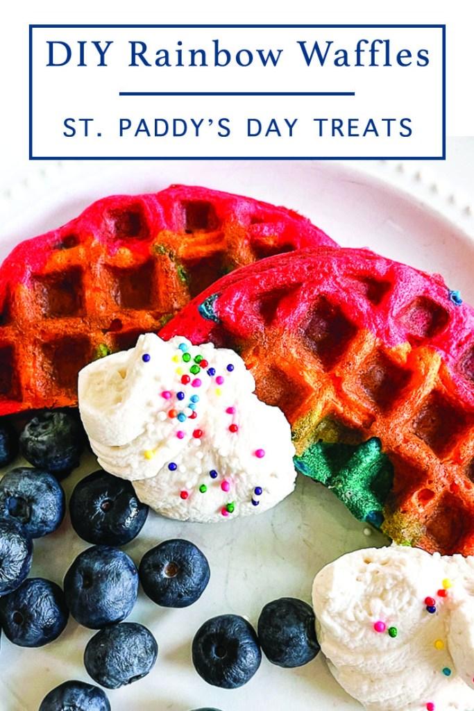 Rainbow Colored Waffles