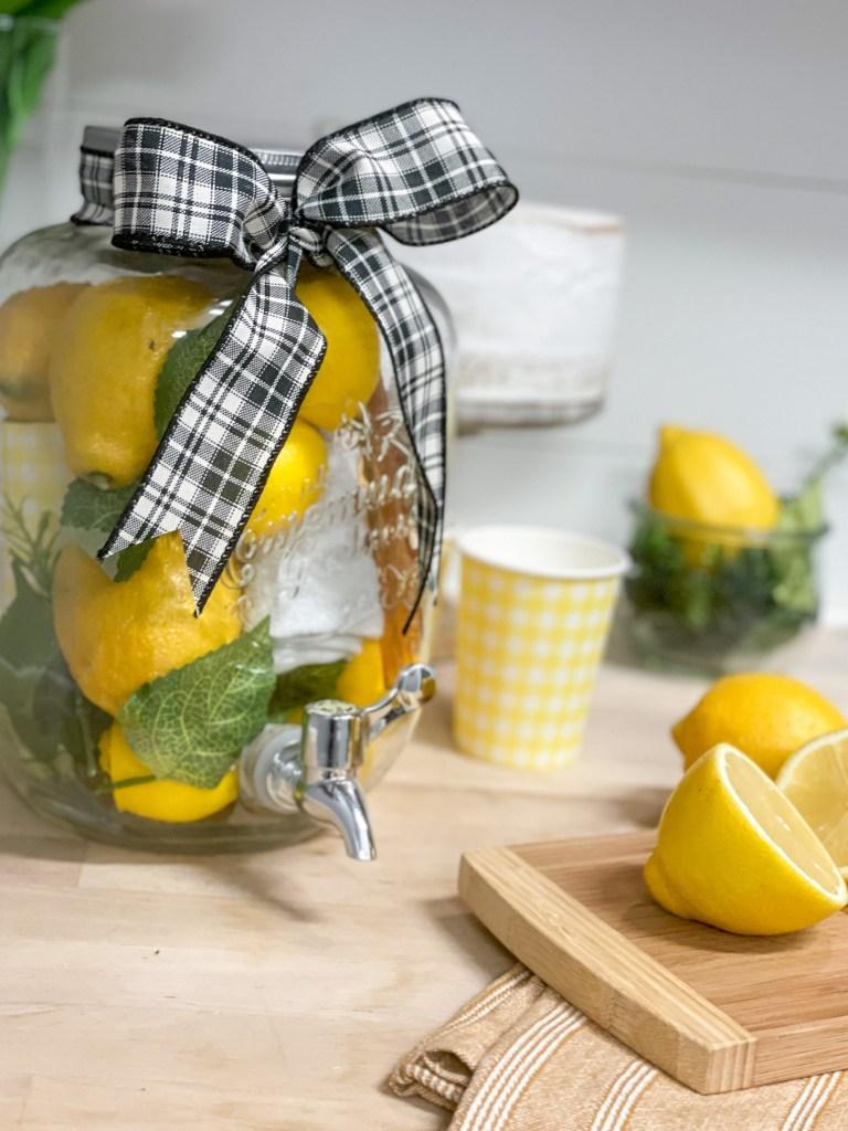 Lemonade Pitcher Cut Lemons
