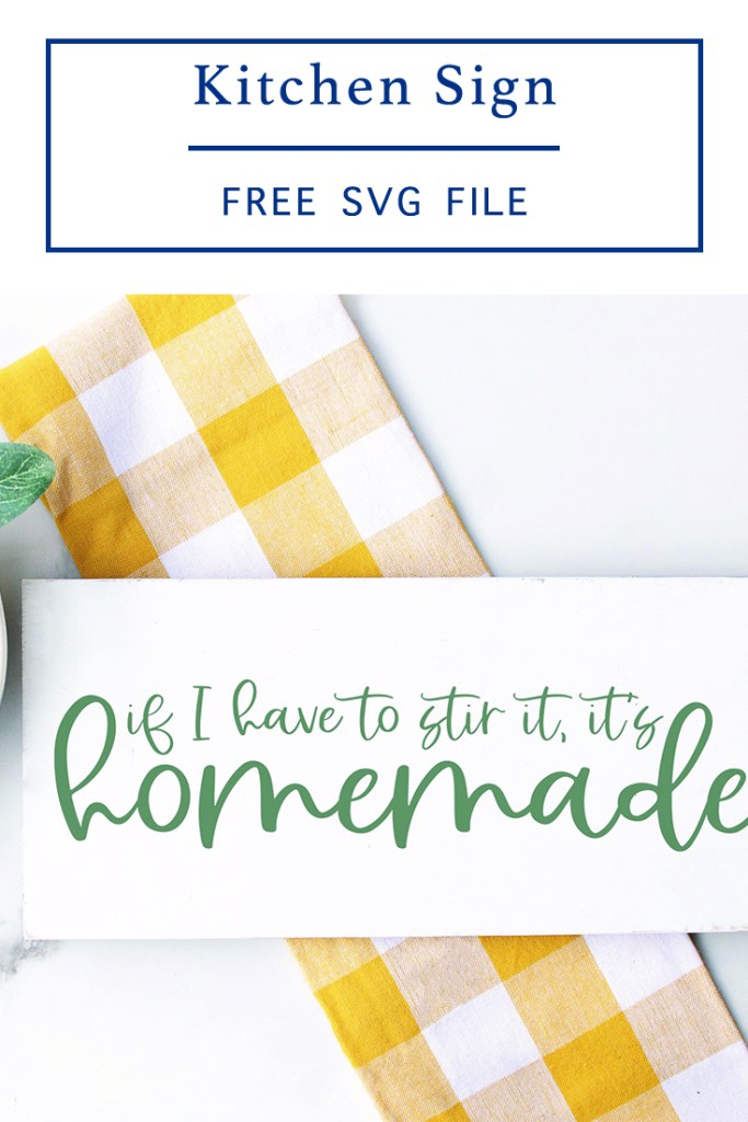 DIY Kitchen Sign Yellow Plaid Towel