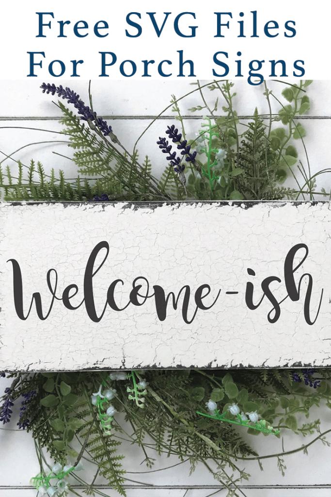 Welcome Sign Wild Flower Wreath