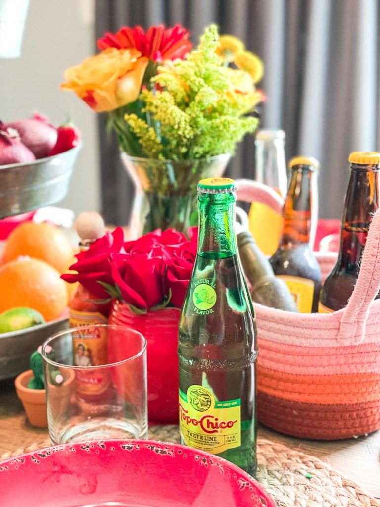 Flowers Beer Dinner Table