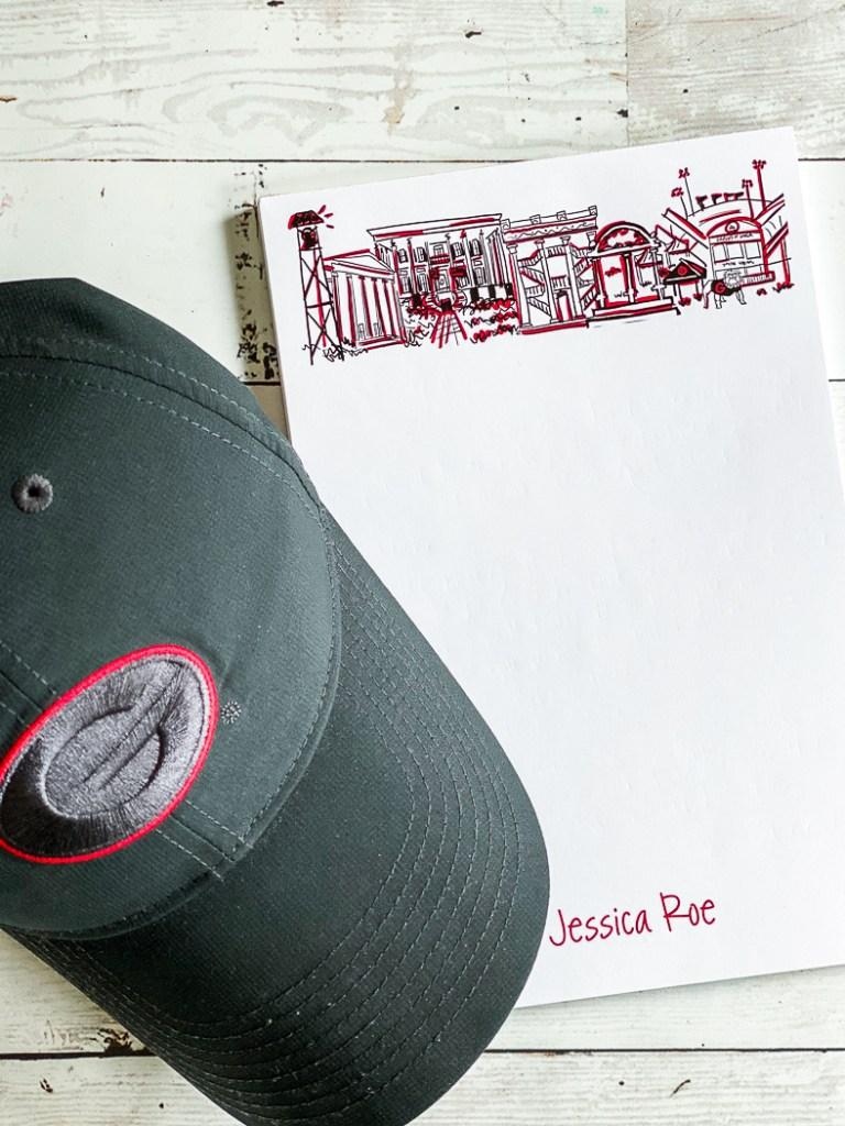 Personalized Note Pad UGA Cap