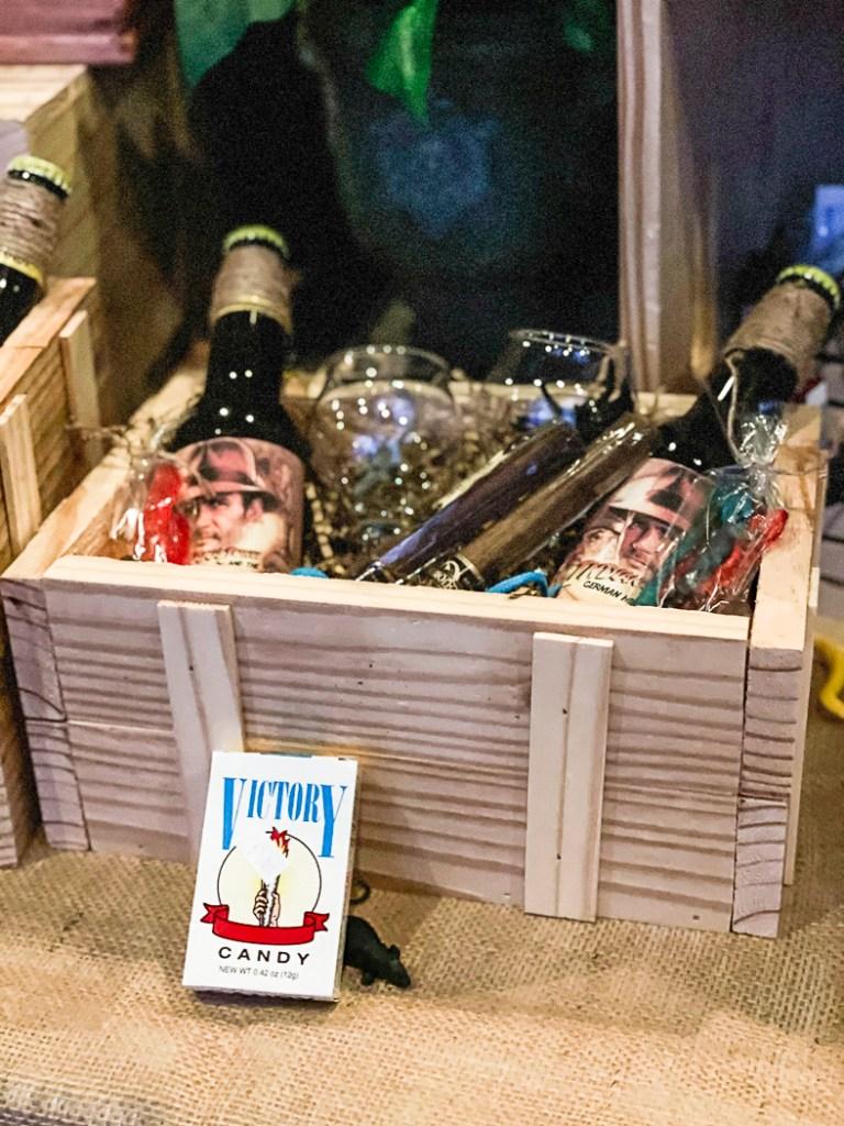 Wooden Crate Cigars Bottled Drinks