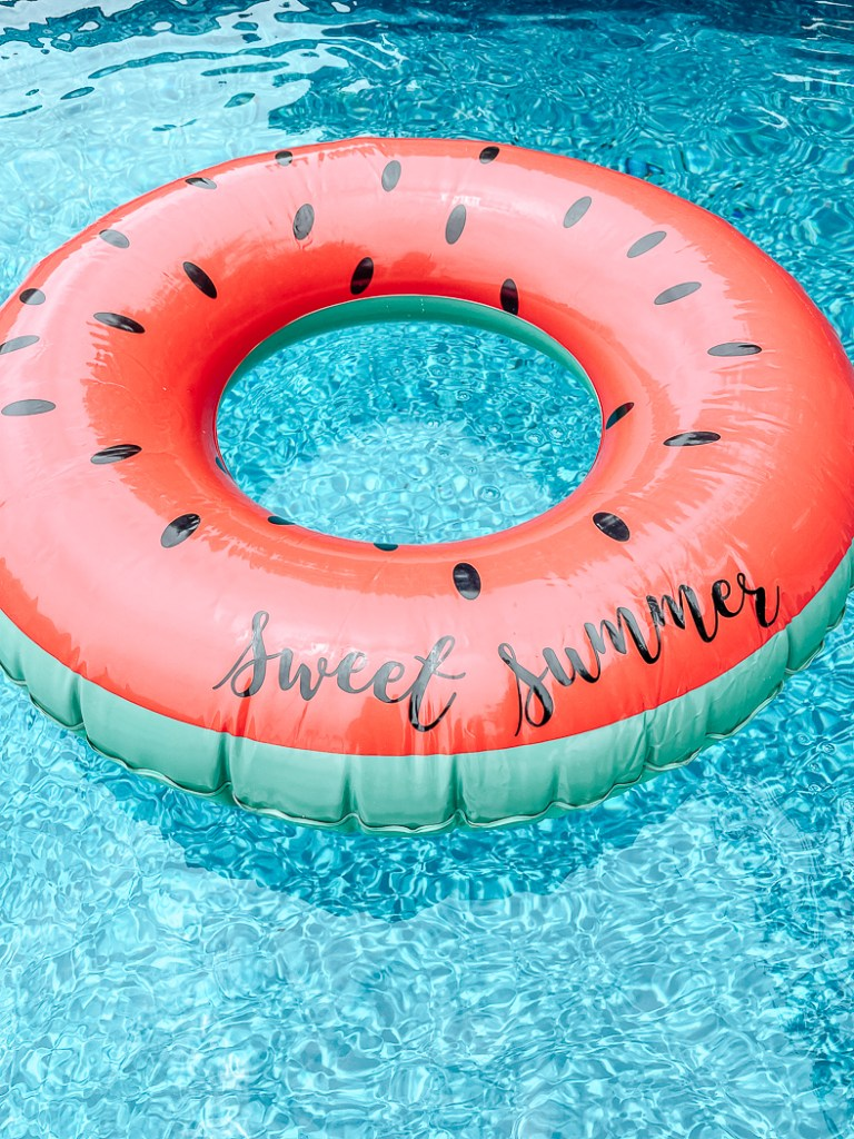 Watermelon Pool Float in the Pool