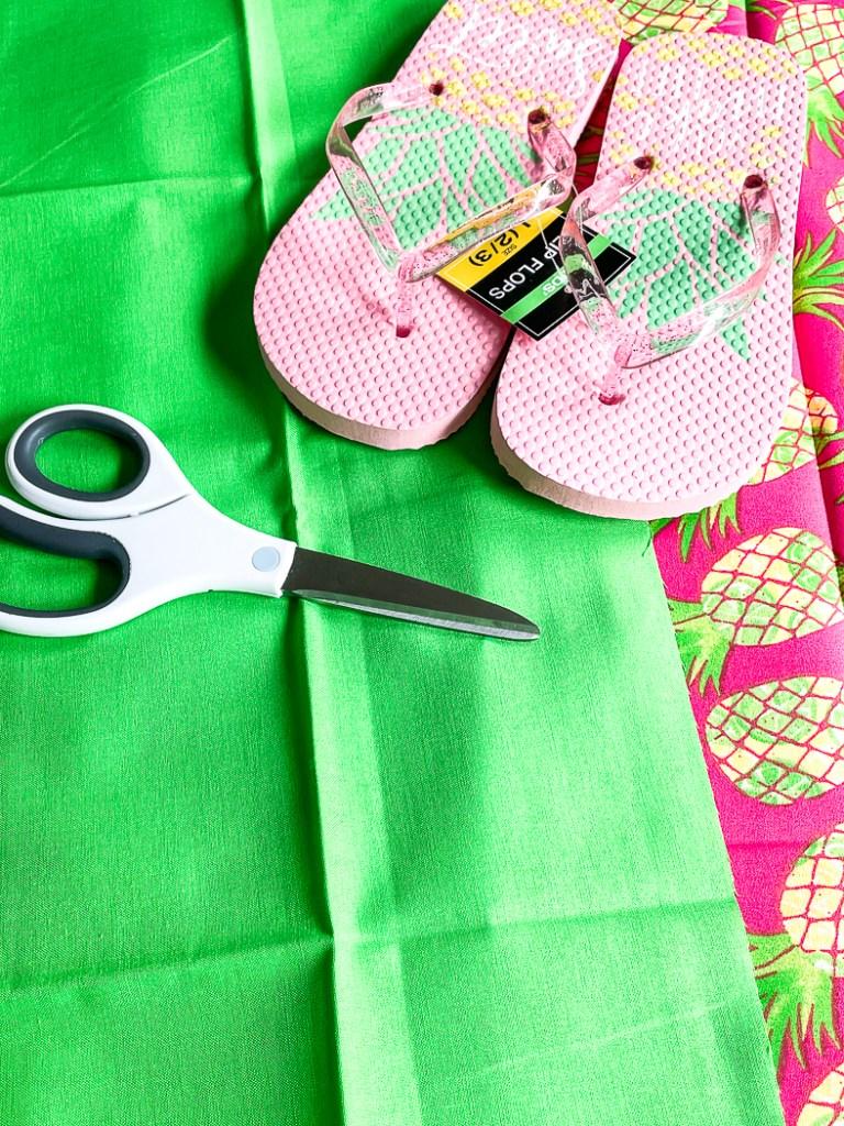 Flip Flops Fabric Scissors