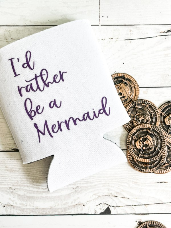 I'd Rather Be A Mermaid Can Cooler