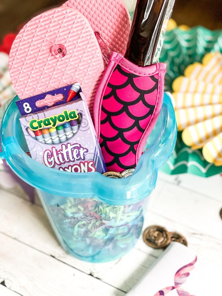 Beach Bucket, Crayons, Popsicle, Flip Flops