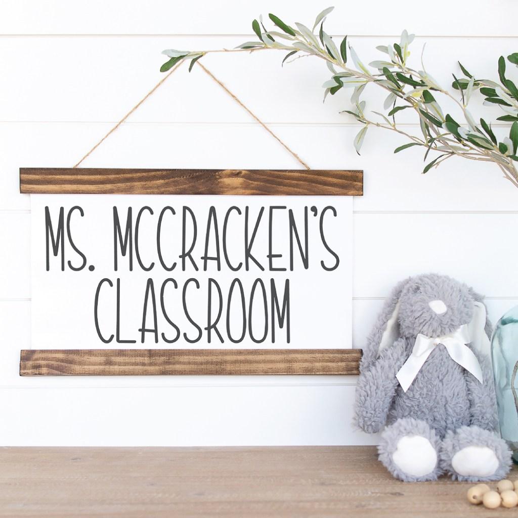 Classroom Sign Bunny