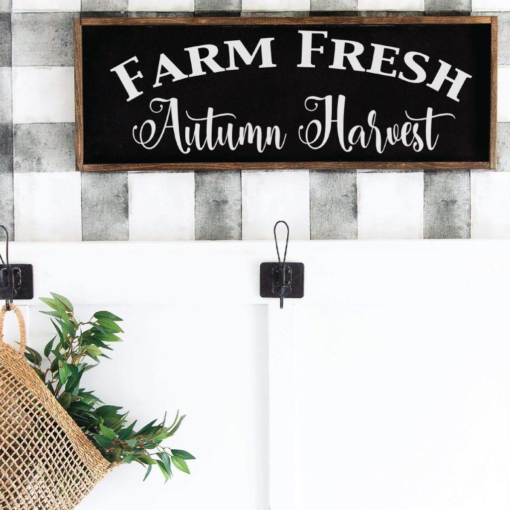 Fall Farmhouse Sign