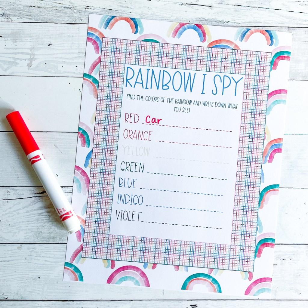 Printable Activity Sheet Crayola Marker