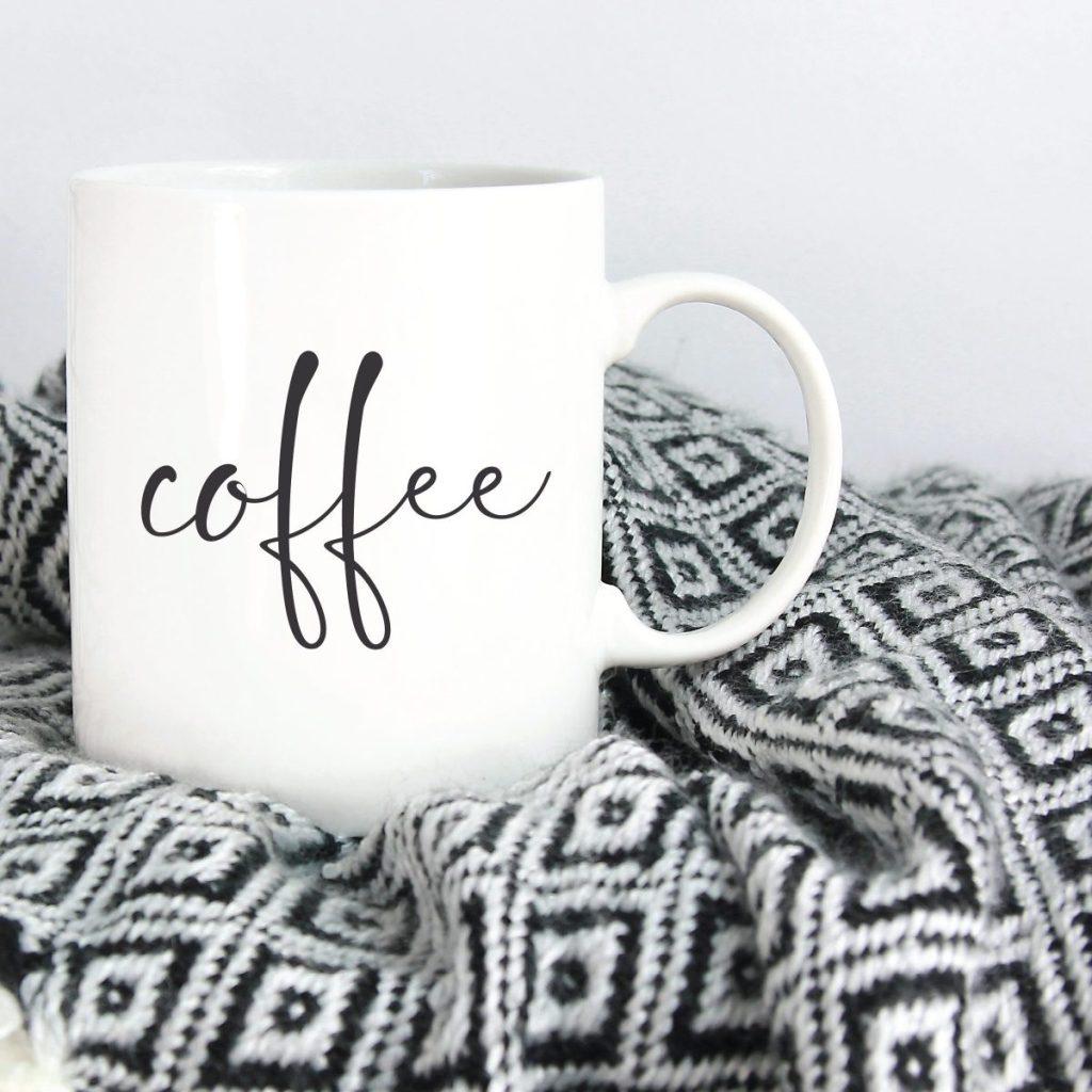 Coffee Mug Throw Blanket