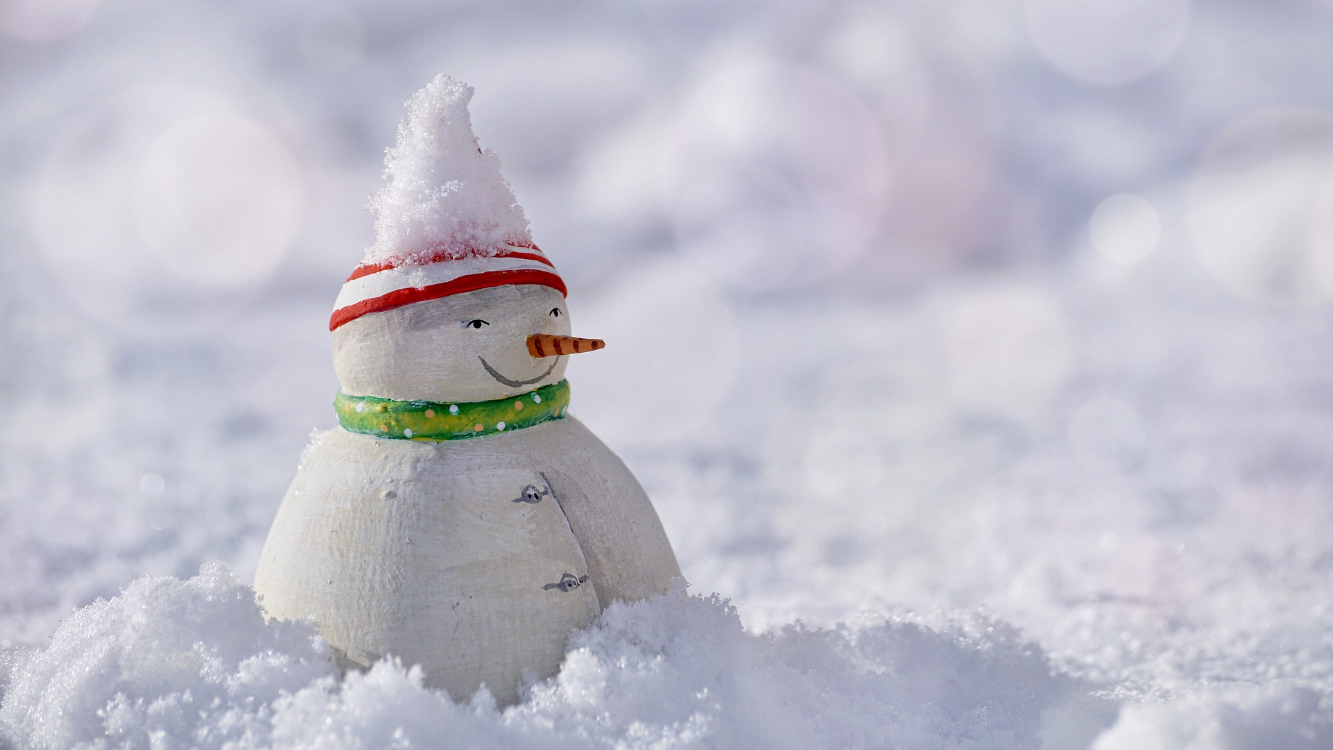 Photo of a toy snowman