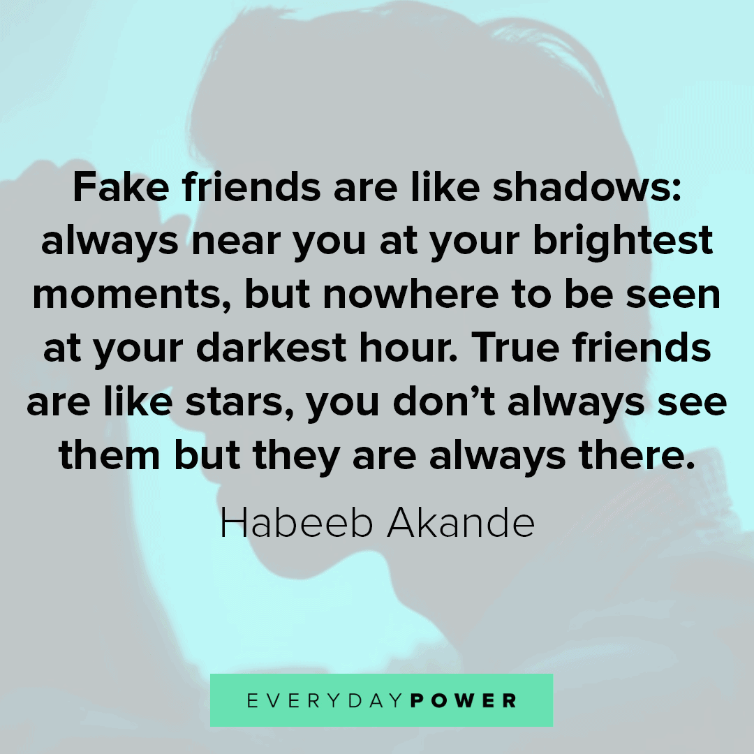 115 Fake Friends Quotes And Fake People Sayings For