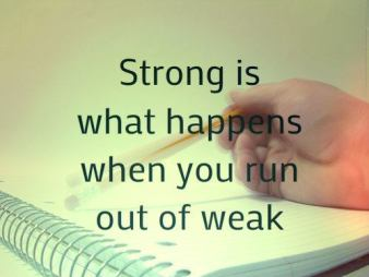 Inspirational Picture Quotes no weakness