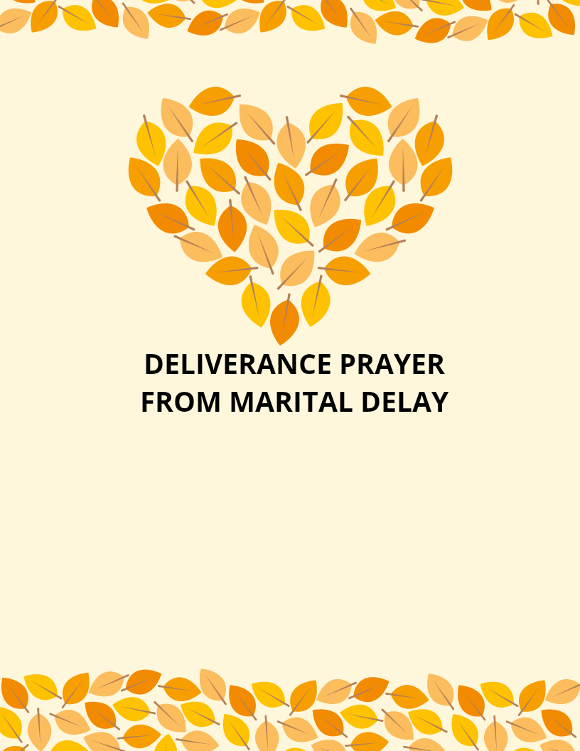 40 Deliverance Prayer From Marital Delay | PRAYER POINTS