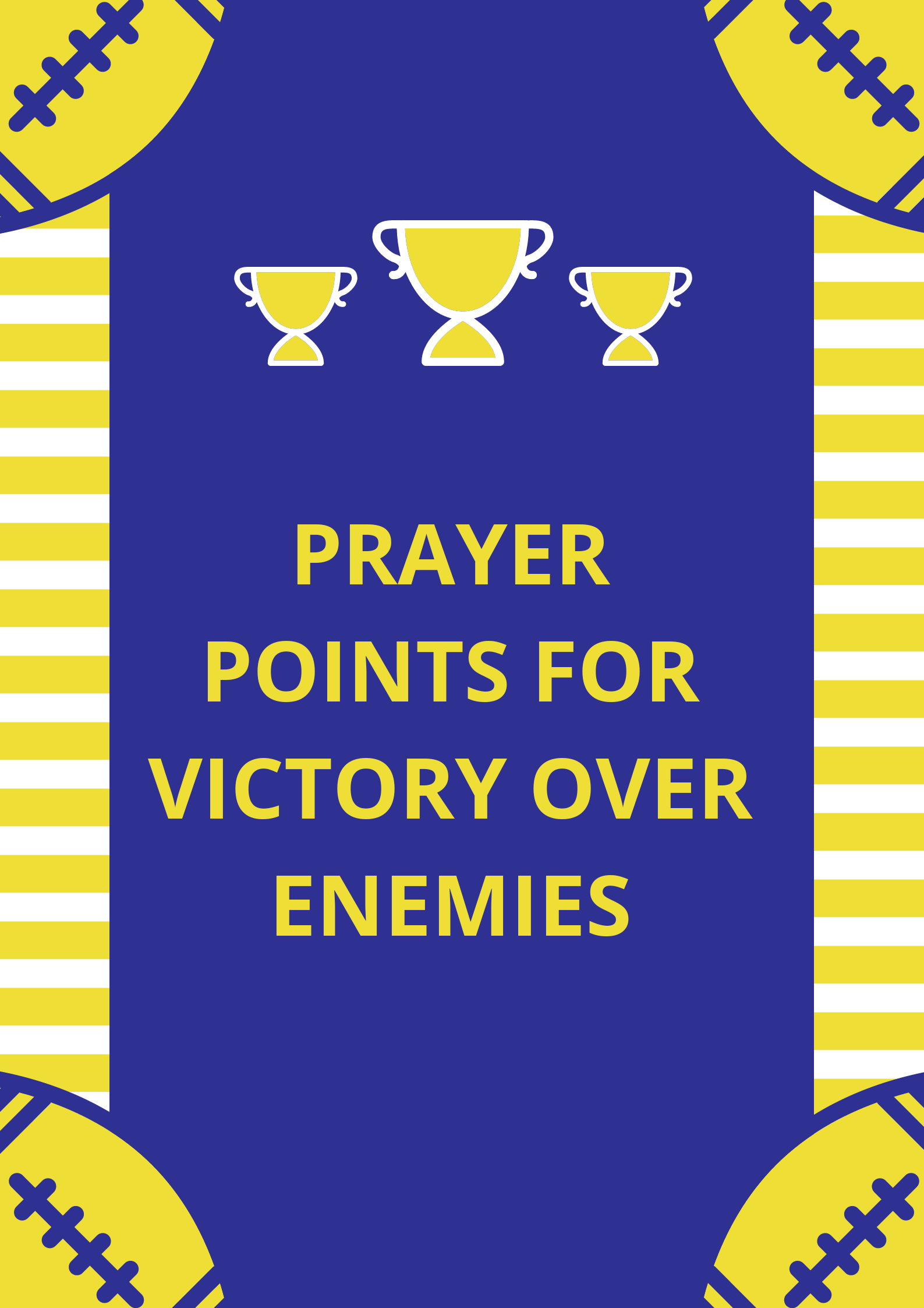 100 Prayer Points For Victory Over Enemies | PRAYER POINTS