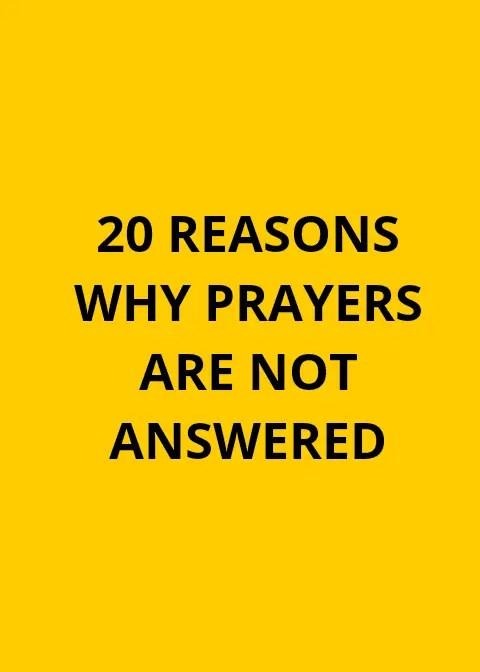 20 سببا لعدم الرد على الصلوات