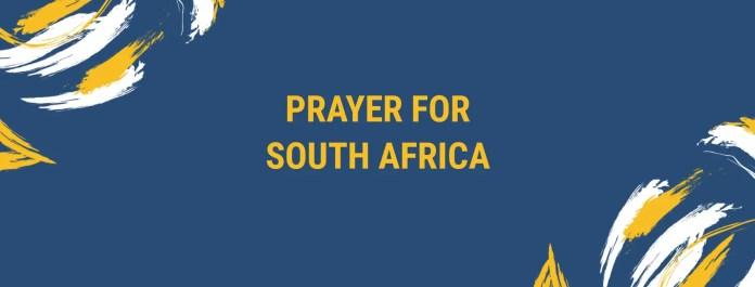 दक्षिण अफ्रीका को लागी प्रार्थना