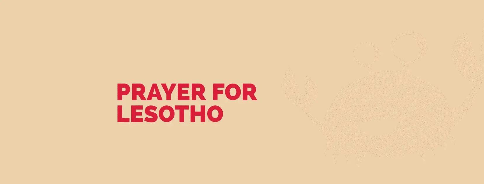 Gebed vir Lesotho
