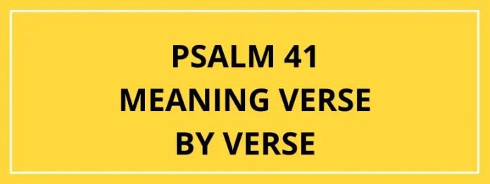 Salm 41 Yr Adnod Neges Trwy Adnod