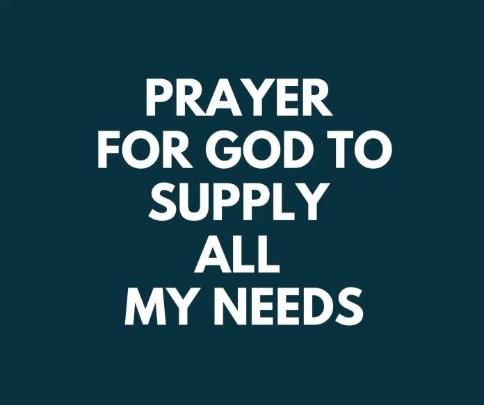 اليوم سنتعامل مع دعاء الله ليوفر كل احتياجاتي. من ليس لديه حاجة؟ الجميع يفعل. هناك فرق بين أن تكون غنيا وأن الله يعطيك كل ما تحتاجه.