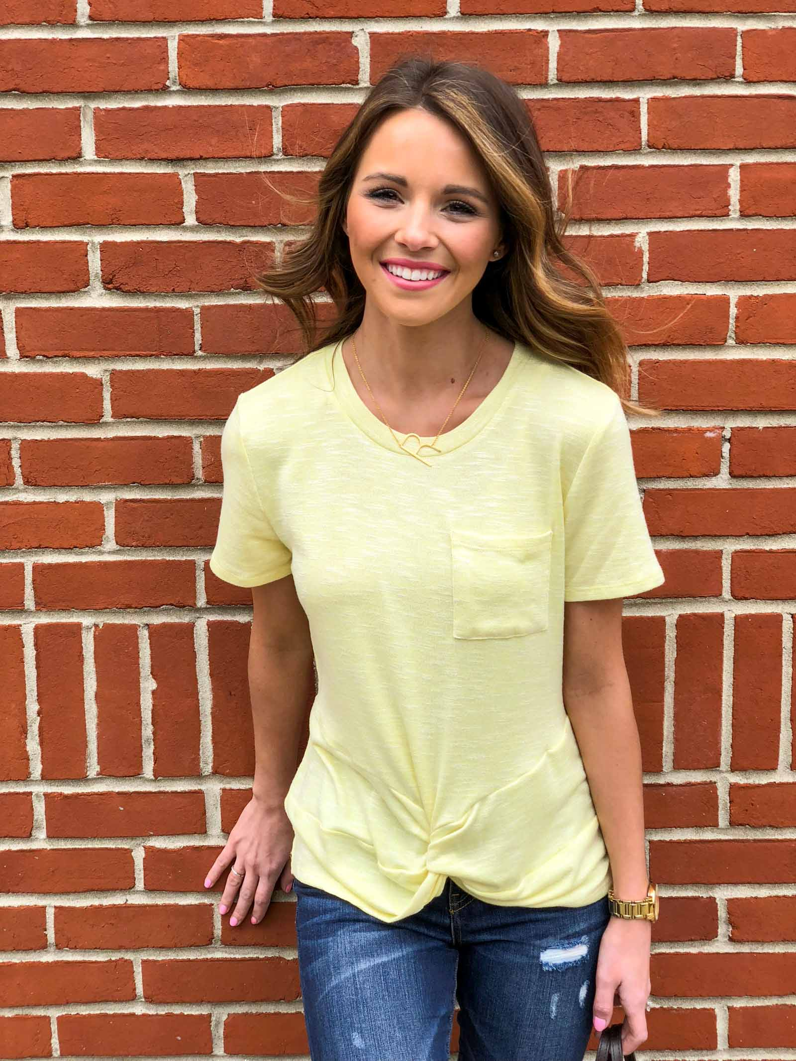 Yellow Twist Tee-11