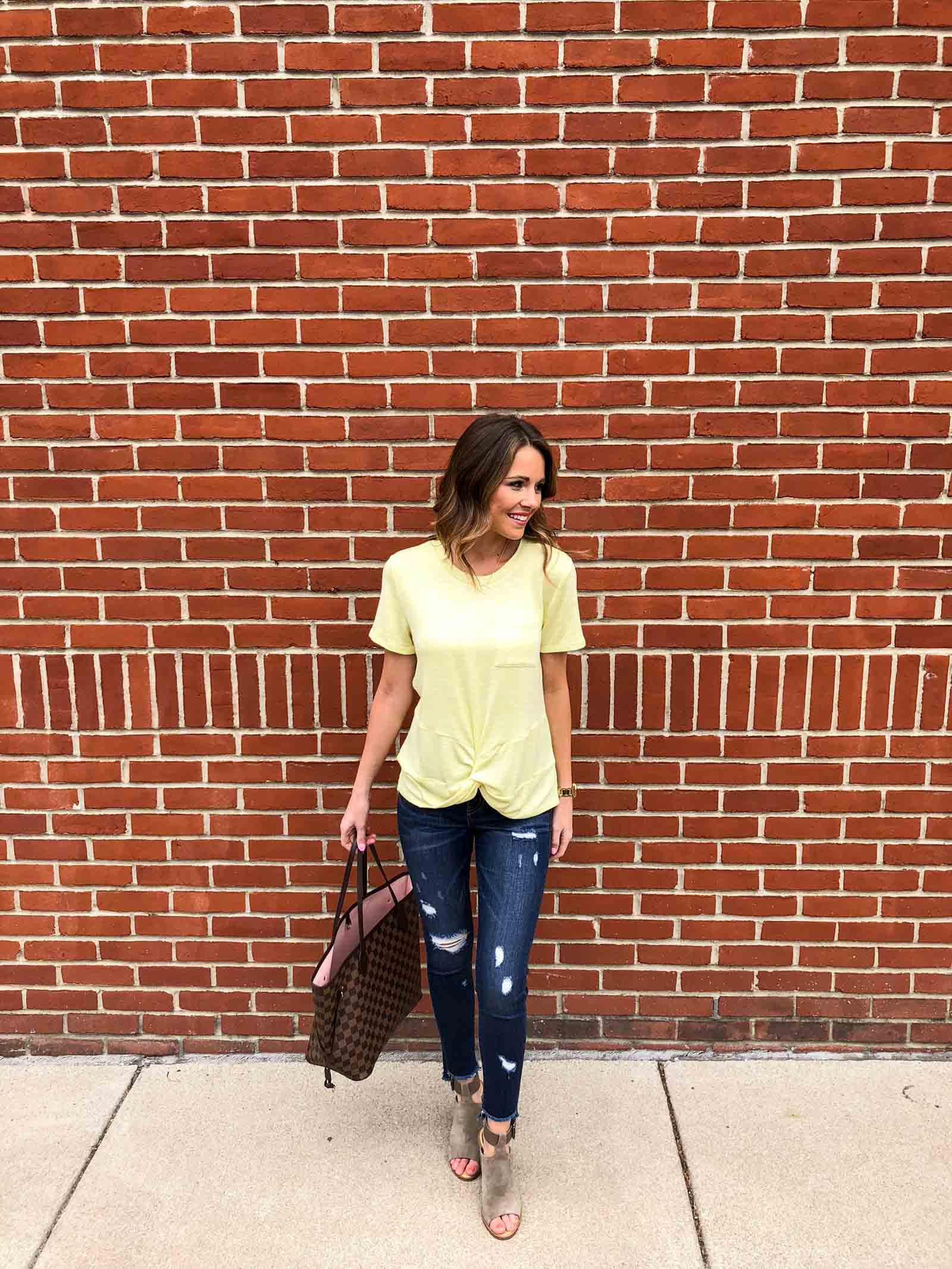 Yellow Twist Tee-2