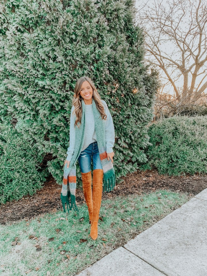 9 Ways to Style a Blanket Scarf