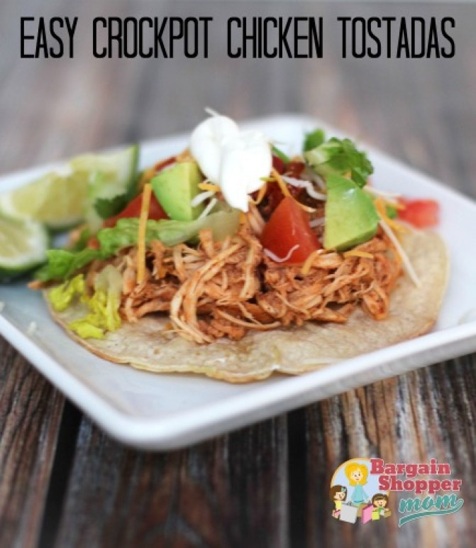 Slow Cooker Chicken Recipes, easy crockpot chicken tostadas