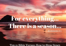 Top 21 Bible verses-How to slow down..