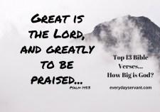 Top 13 Bible verses-How Big is God?