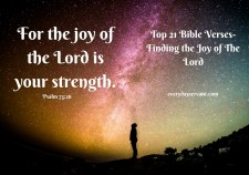 Top 21 Bible verses-For the joy of the lord is your strength