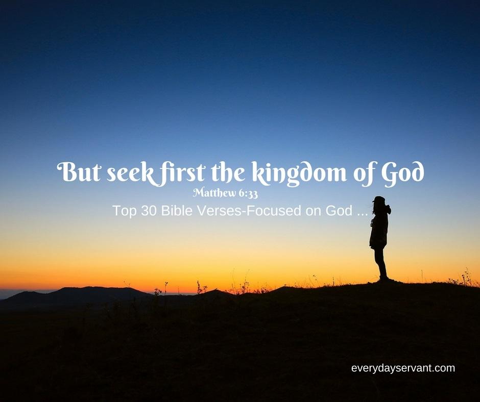 Top 30 Bible Verses-Focused on God ...
