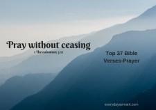 Top 37 Bible verses-Prayer