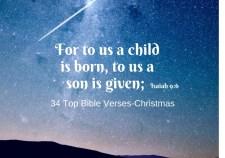 34 Top Bible Verses-Christmas