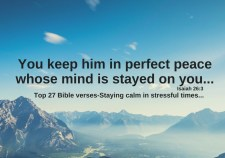 Top 27 Bible Verses-Staying calm in stressful times