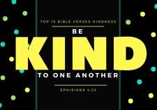 Top 16 Bible verses-KIndness