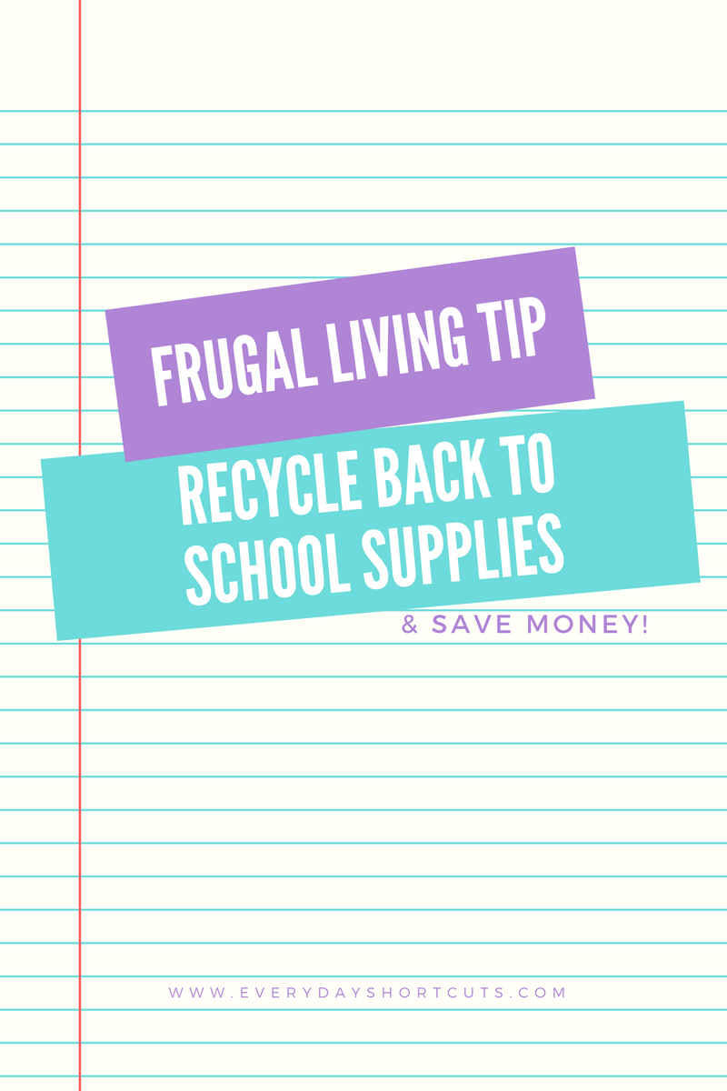 Recycle Back to School Supplies