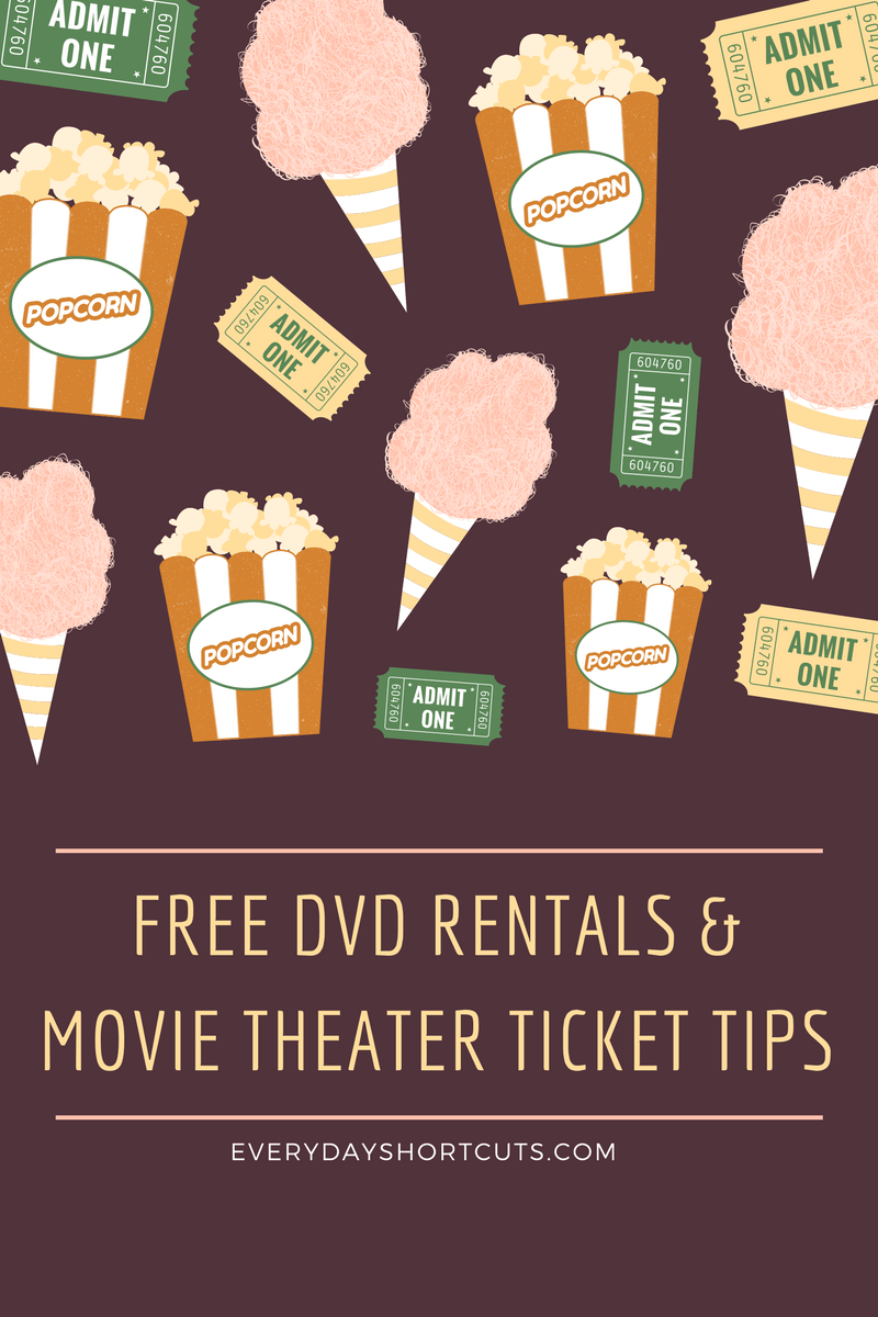 How to Get Free DVD Rentals and Free Movie Theater Tickets