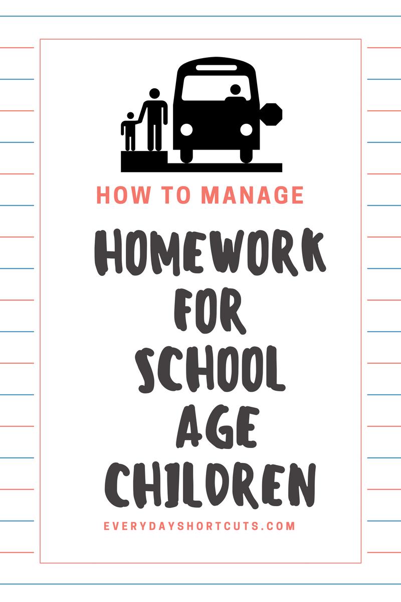 How to Manage Homework