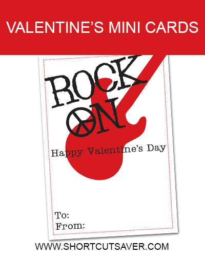 Rock On Valentine Printable