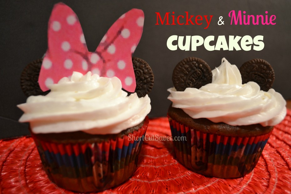 Disney-Minnie and Mickey Cupcakes