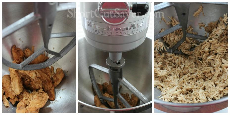 shredded chicken process